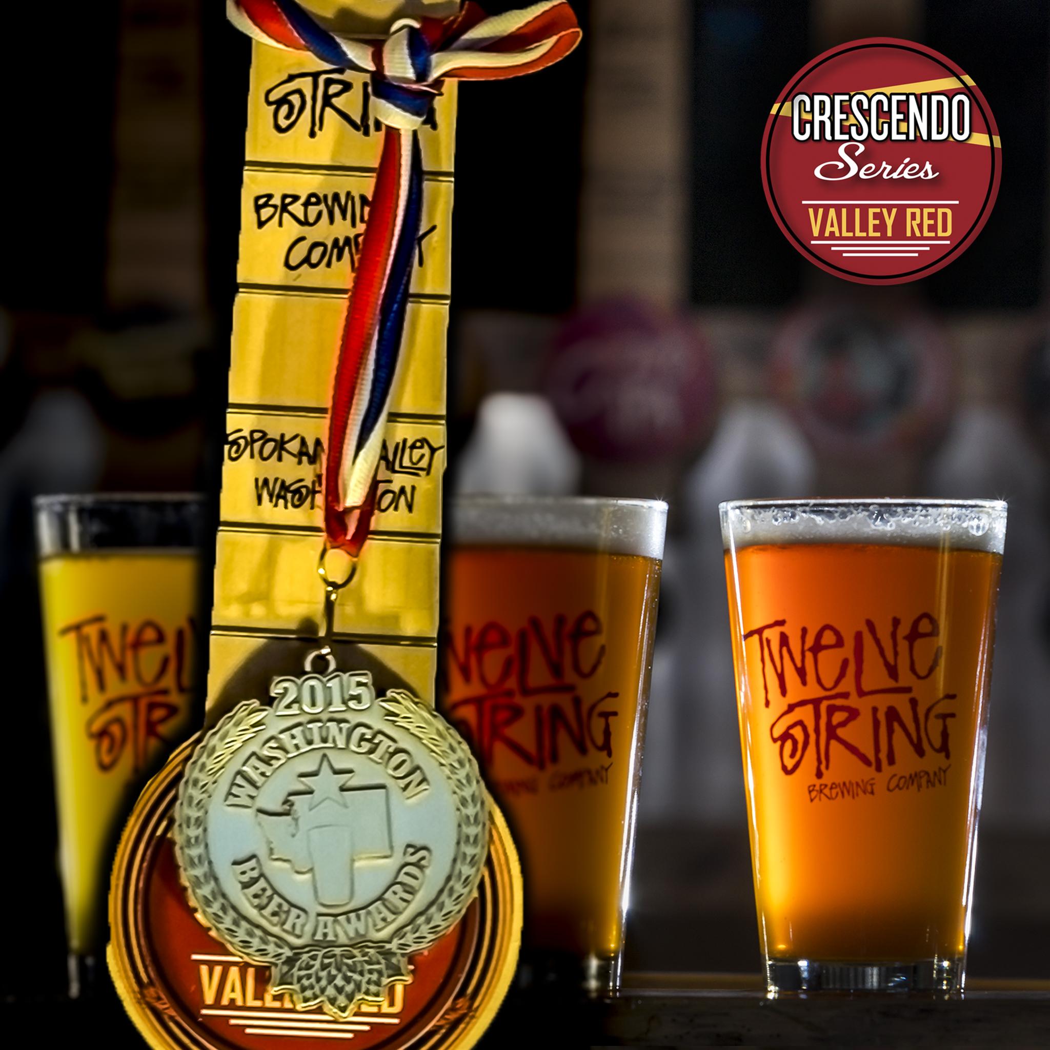 Award winning Twelve String Brewing Valley Red Ale