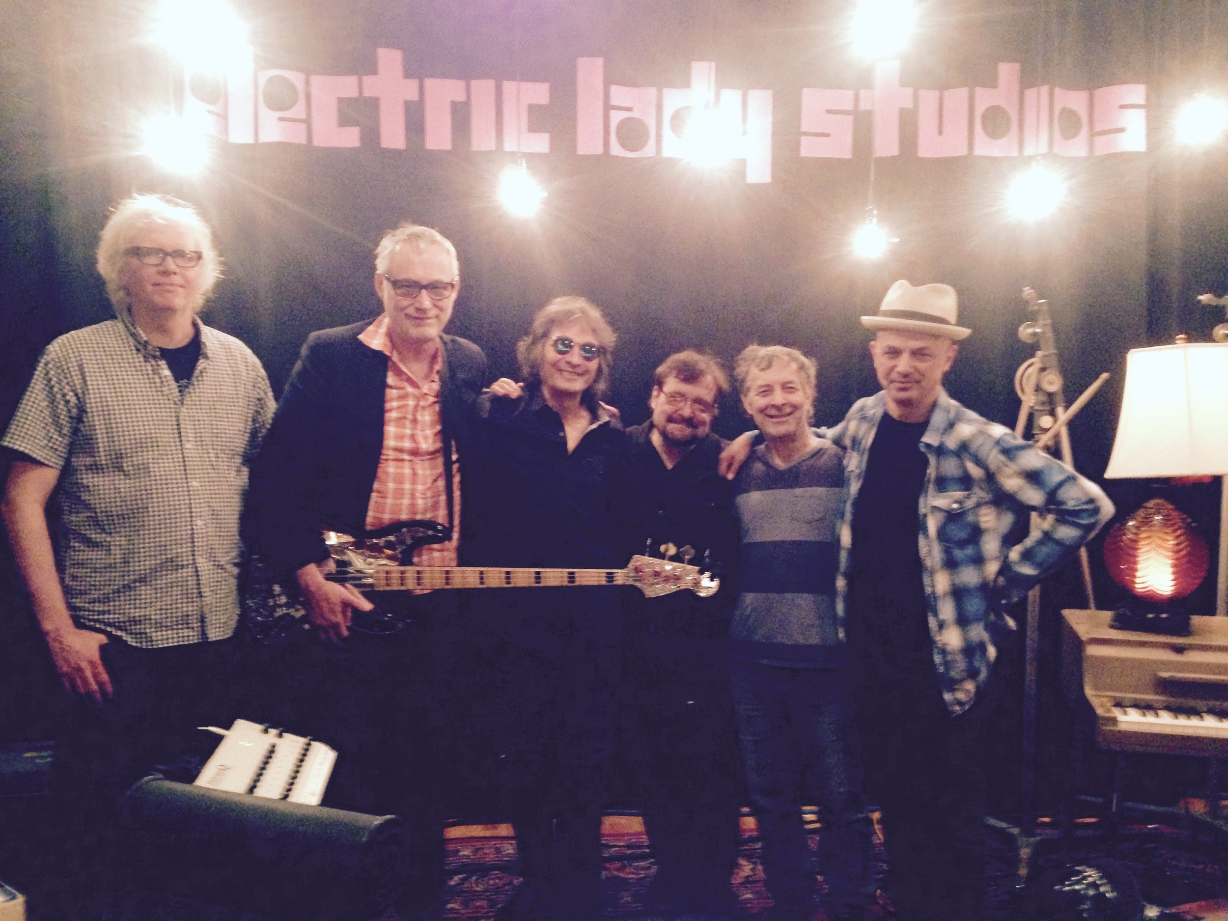 Don Fleming, Joe McGinty, DD, Joe, Albert, and James Mastro. Electric Lady Studios NYC.