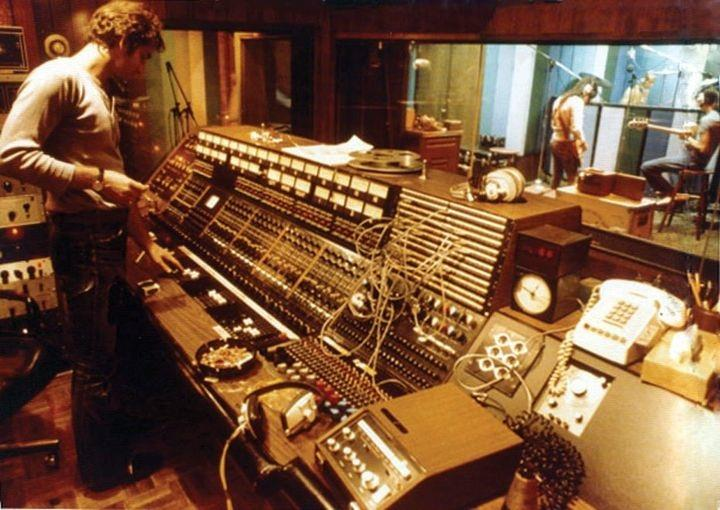 Recording at the Record Plant in 1975