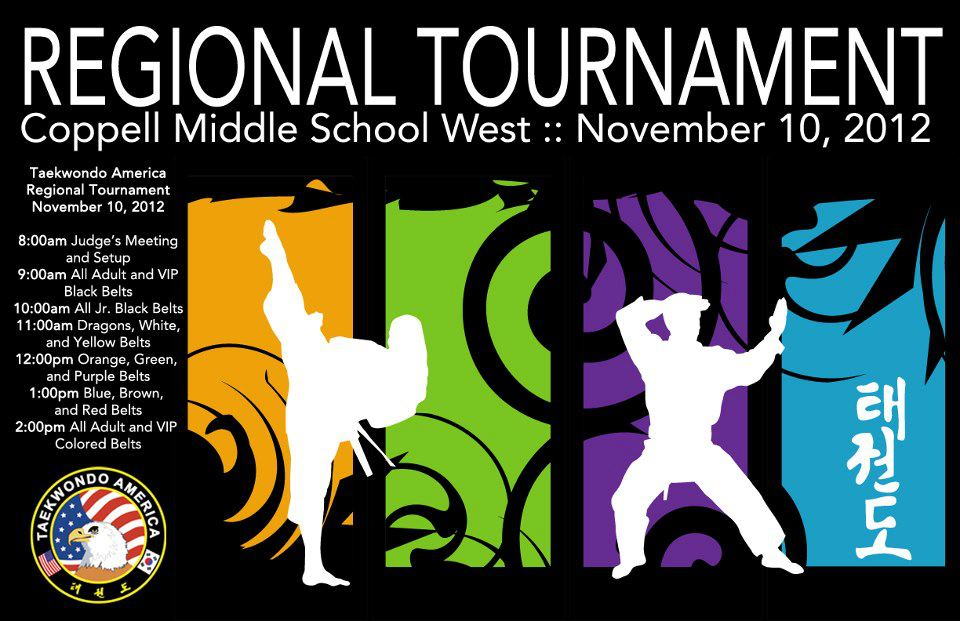 Regional Tournament in Coppell, TX is on Saturday, November 10.