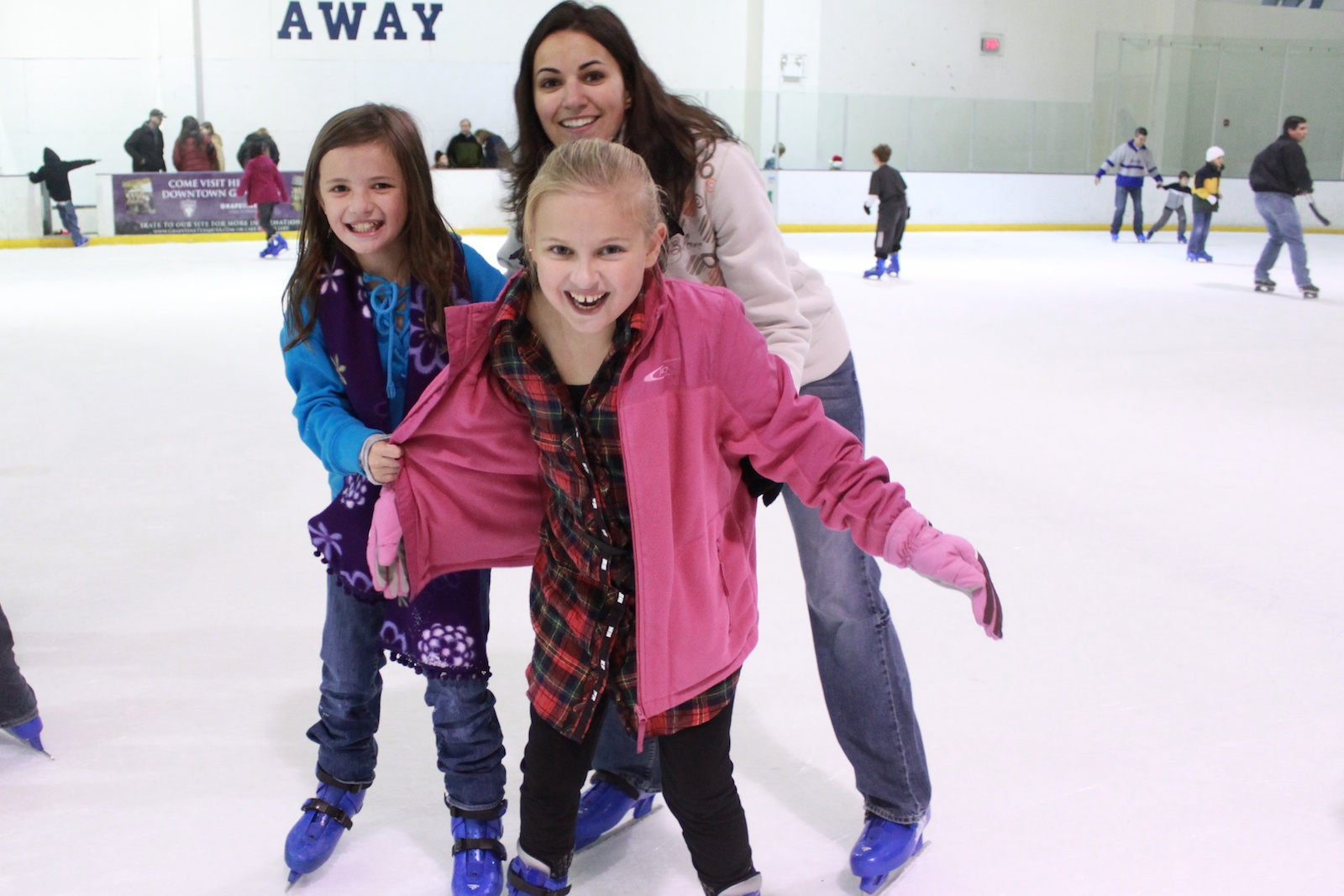 Mrs. Spicar is ice skating with our Taekwondo Karate students, Miss VanTassle and Miss Popovitch.