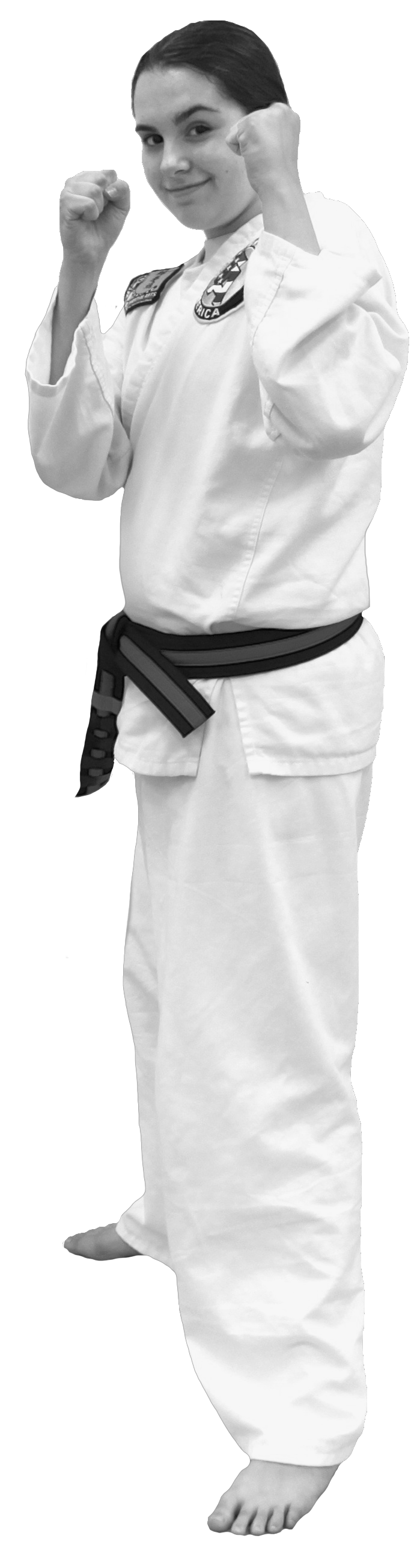Miss Bailee Hach has been training with Spicar's Martial Arts in Southlake TX since summer 2010. Together with her sister Rylee they will be trying to earn their 1st Degree Black Belt in August 2013. Congrats and good luck!