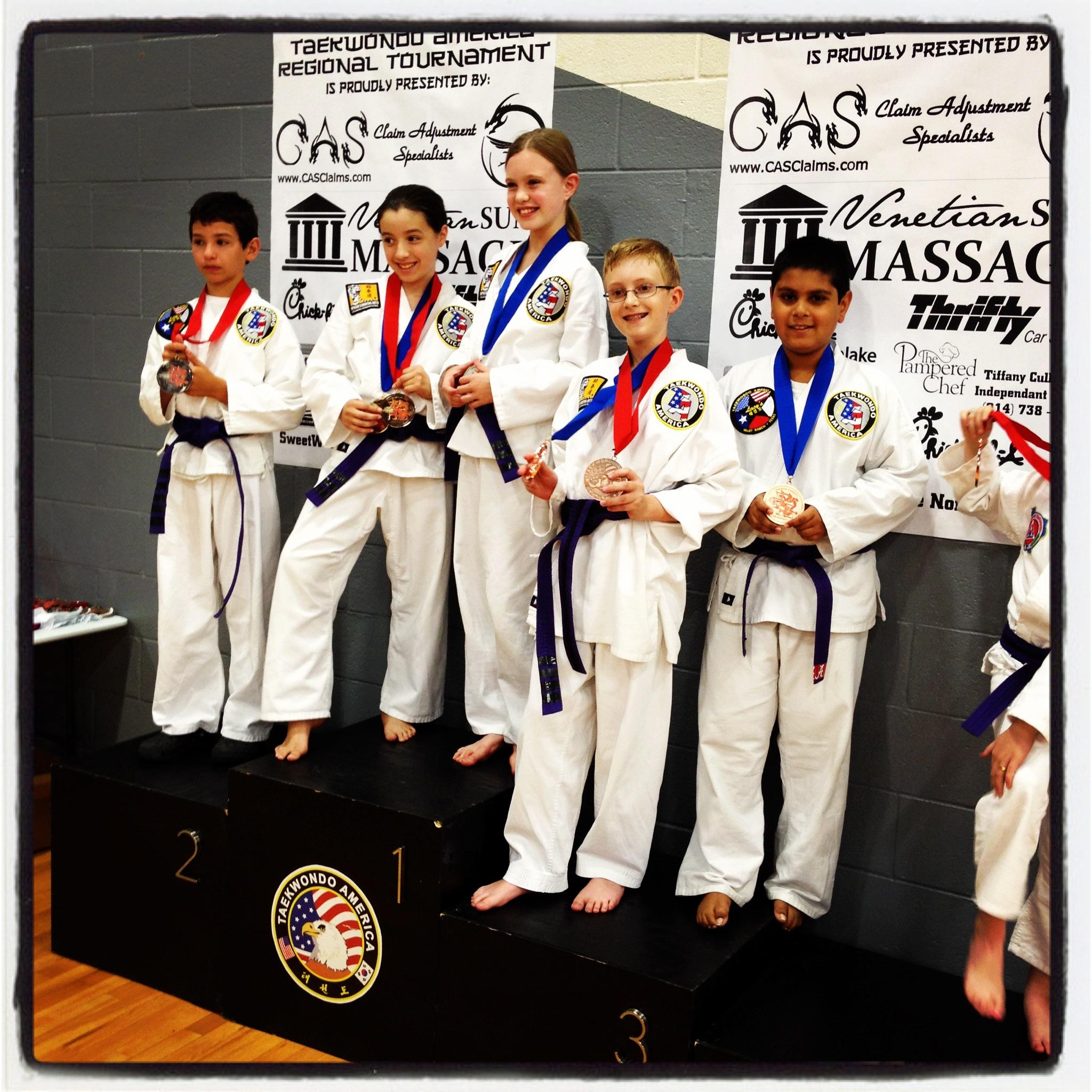 Taekwondo Students From Southlake TX At Tournament.jpg