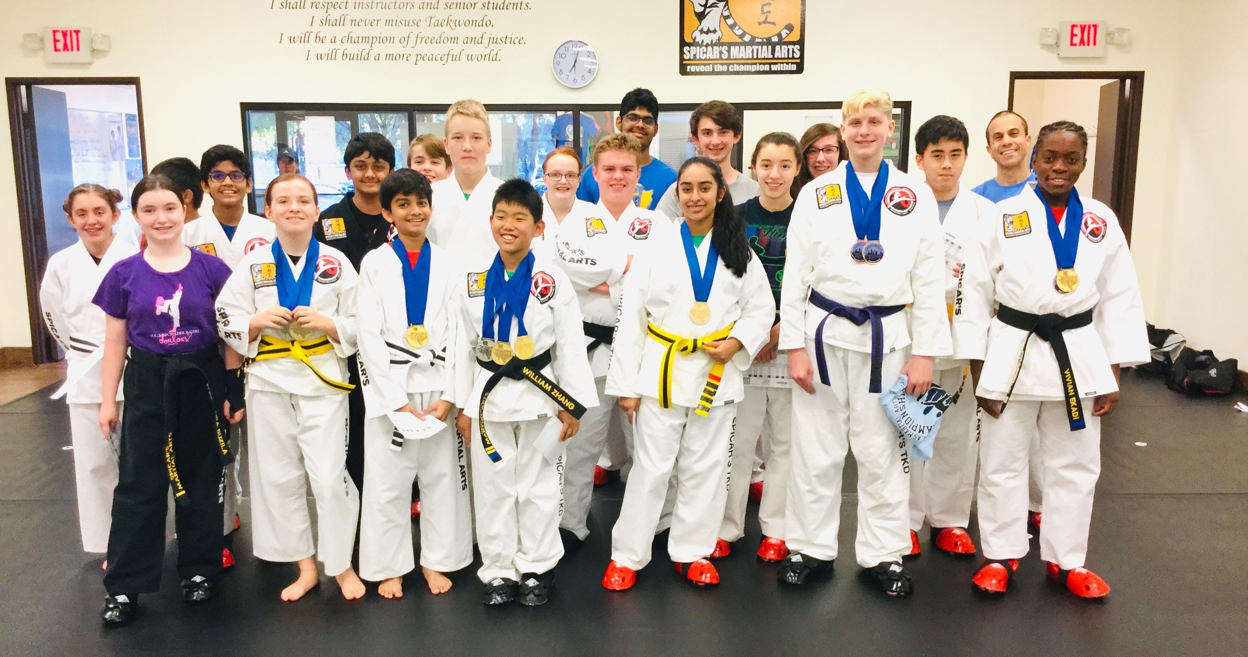 Spicar's have around 100 teens training in martial arts.