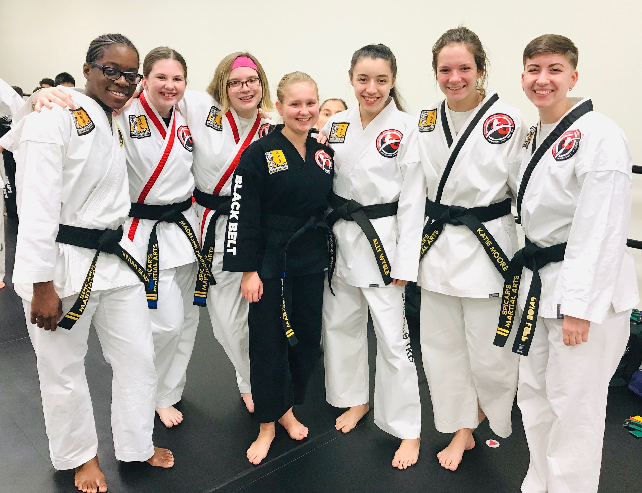 Here are some of our martial arts girls. They are awesome and they rock every class!
