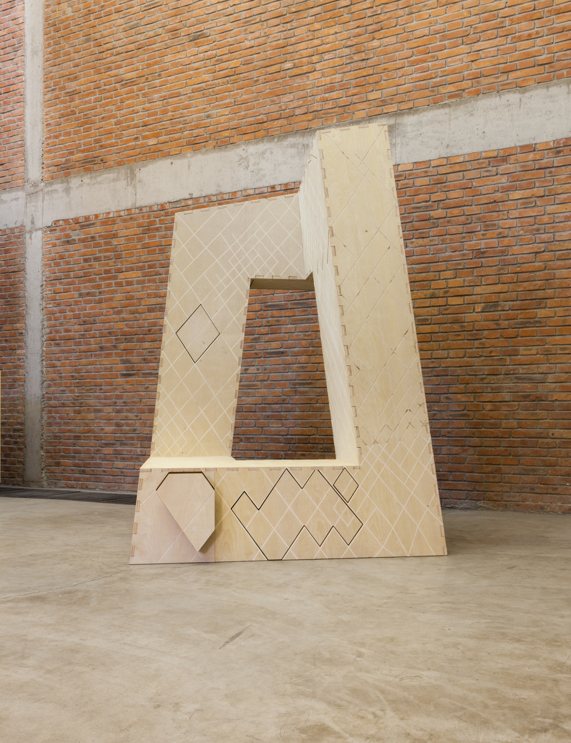An unfinished wardrobe by Naihan Li, inspired by one of China's most iconic buildings