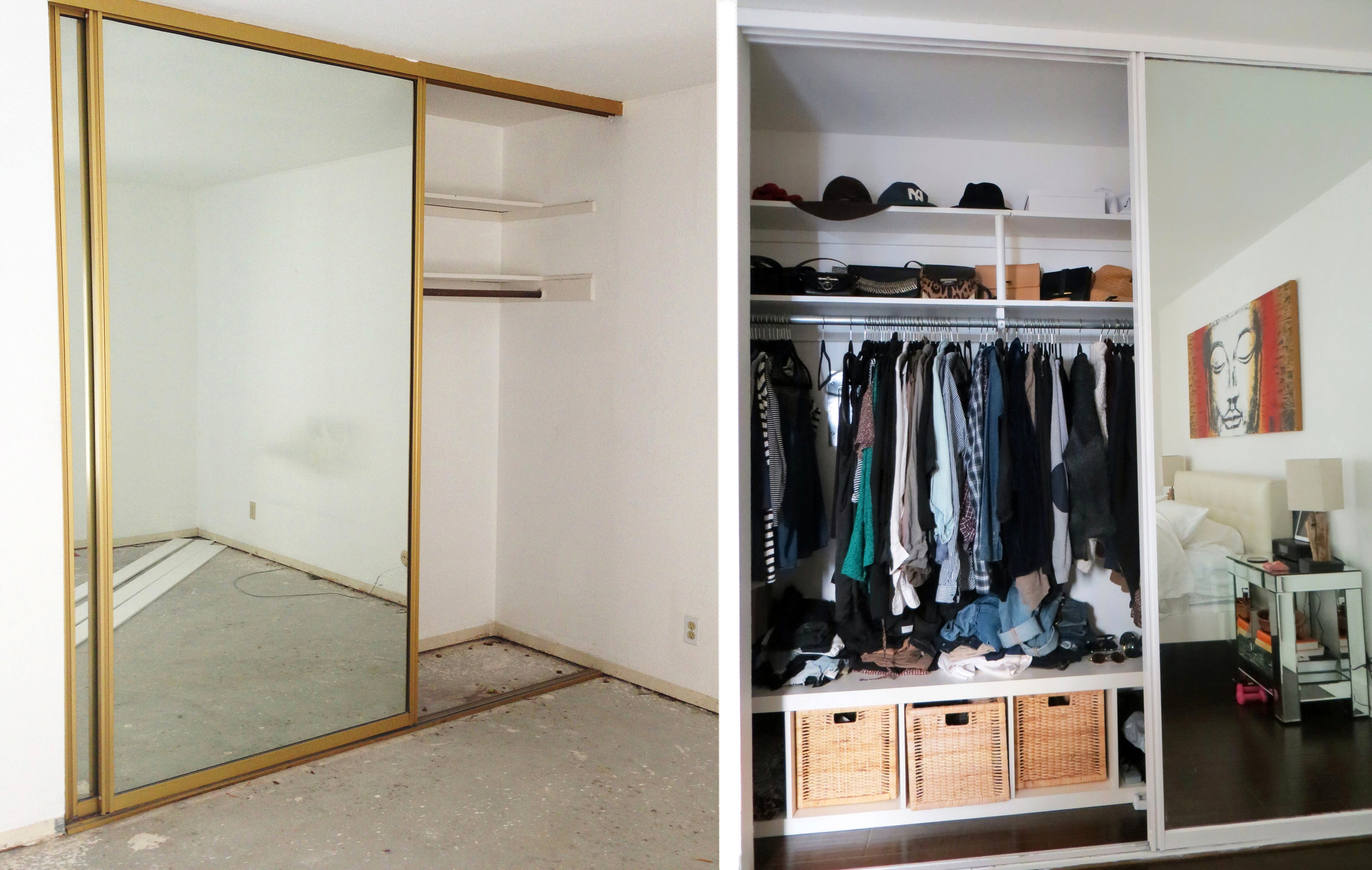 Before and After: The Closet