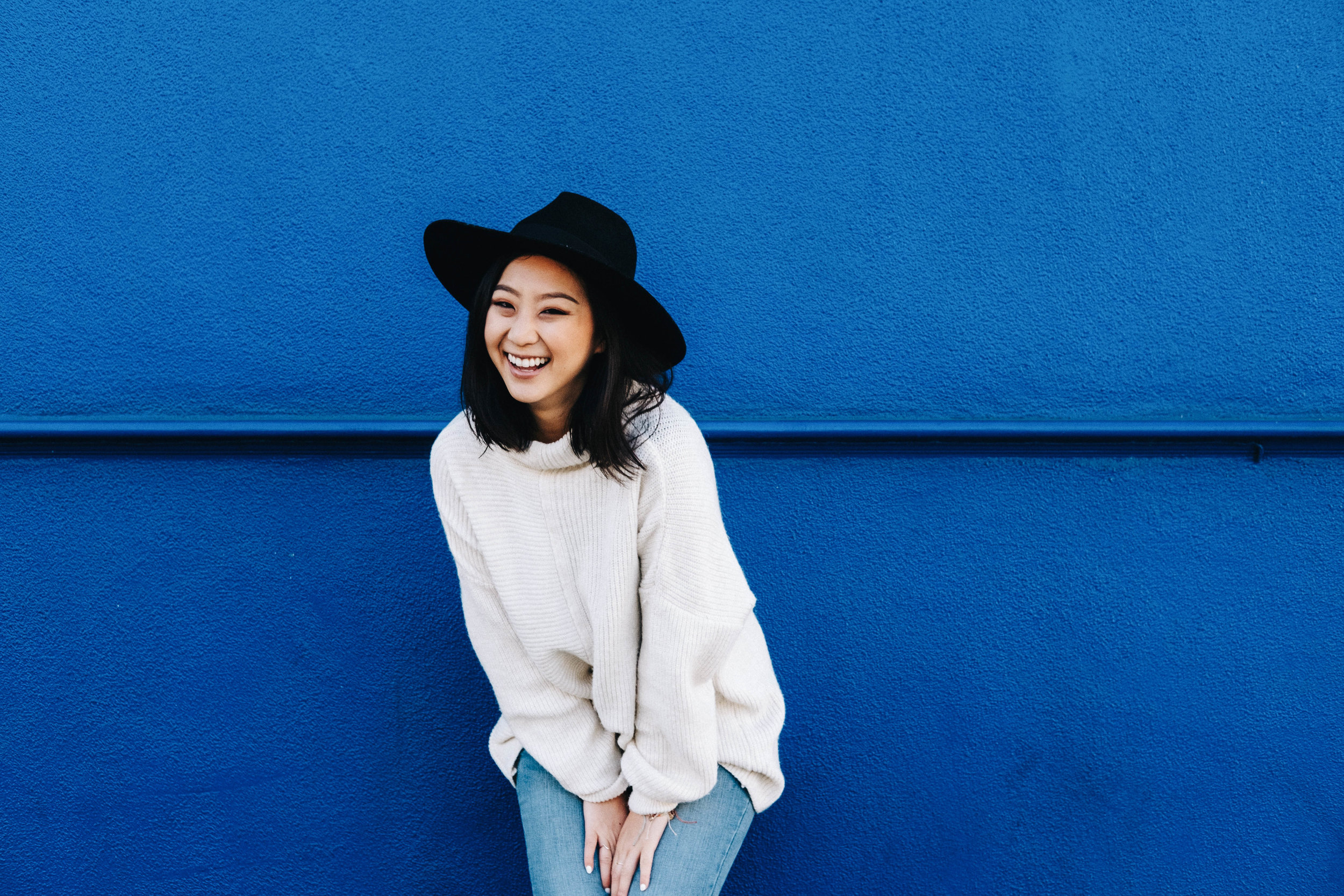 BRIXTON   hat  / TOPSHOP  sweater  / OLD NAVY   jeans    PHOTOS BY DAVID LEONG