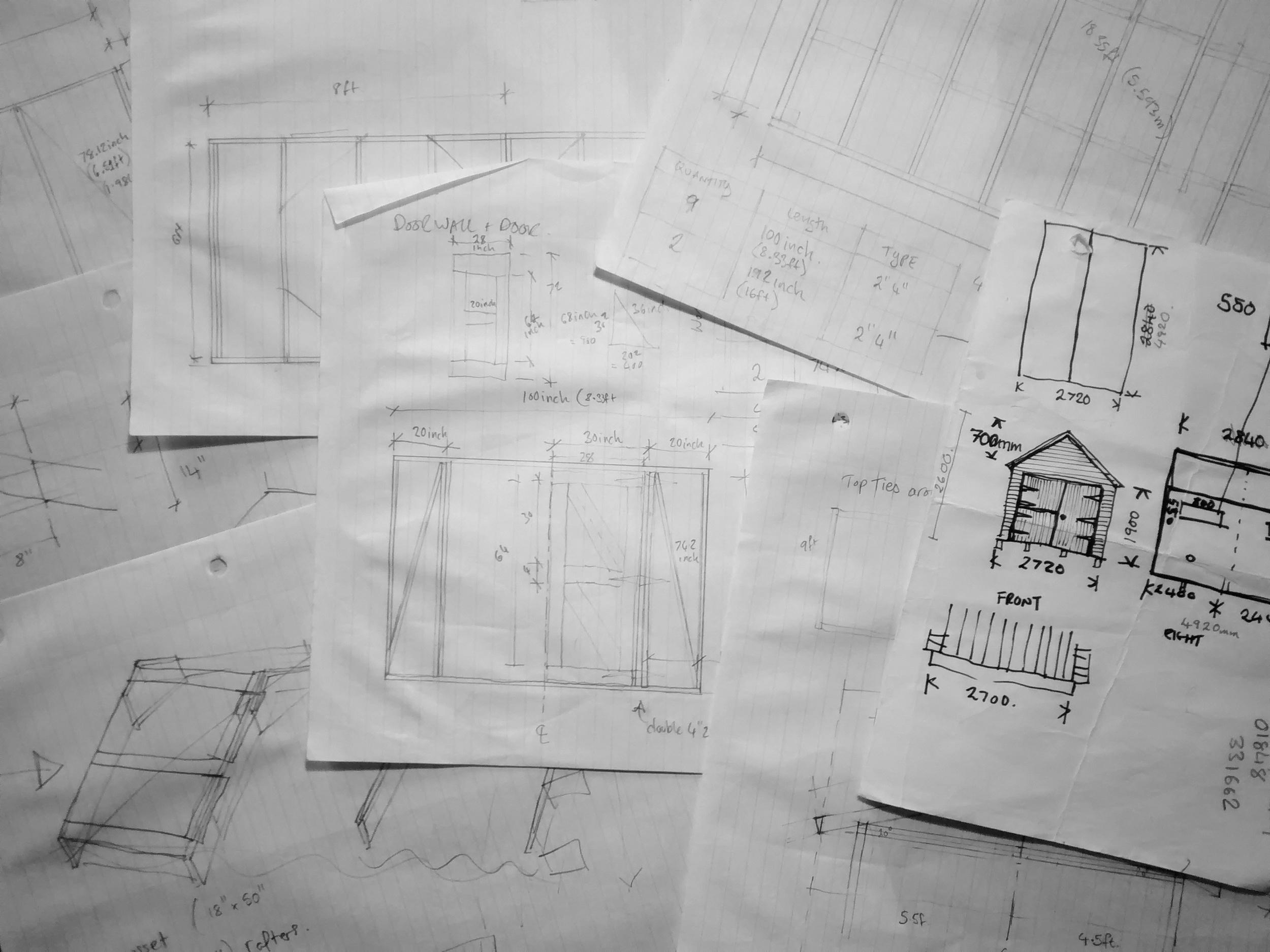 hut sketches