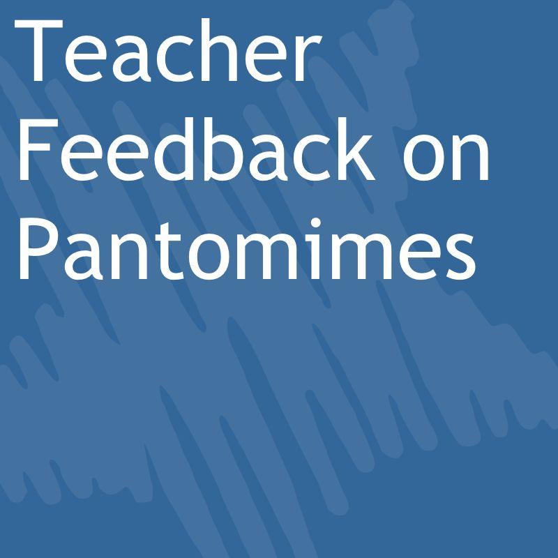 teacher feedback on pantomimes.jpg