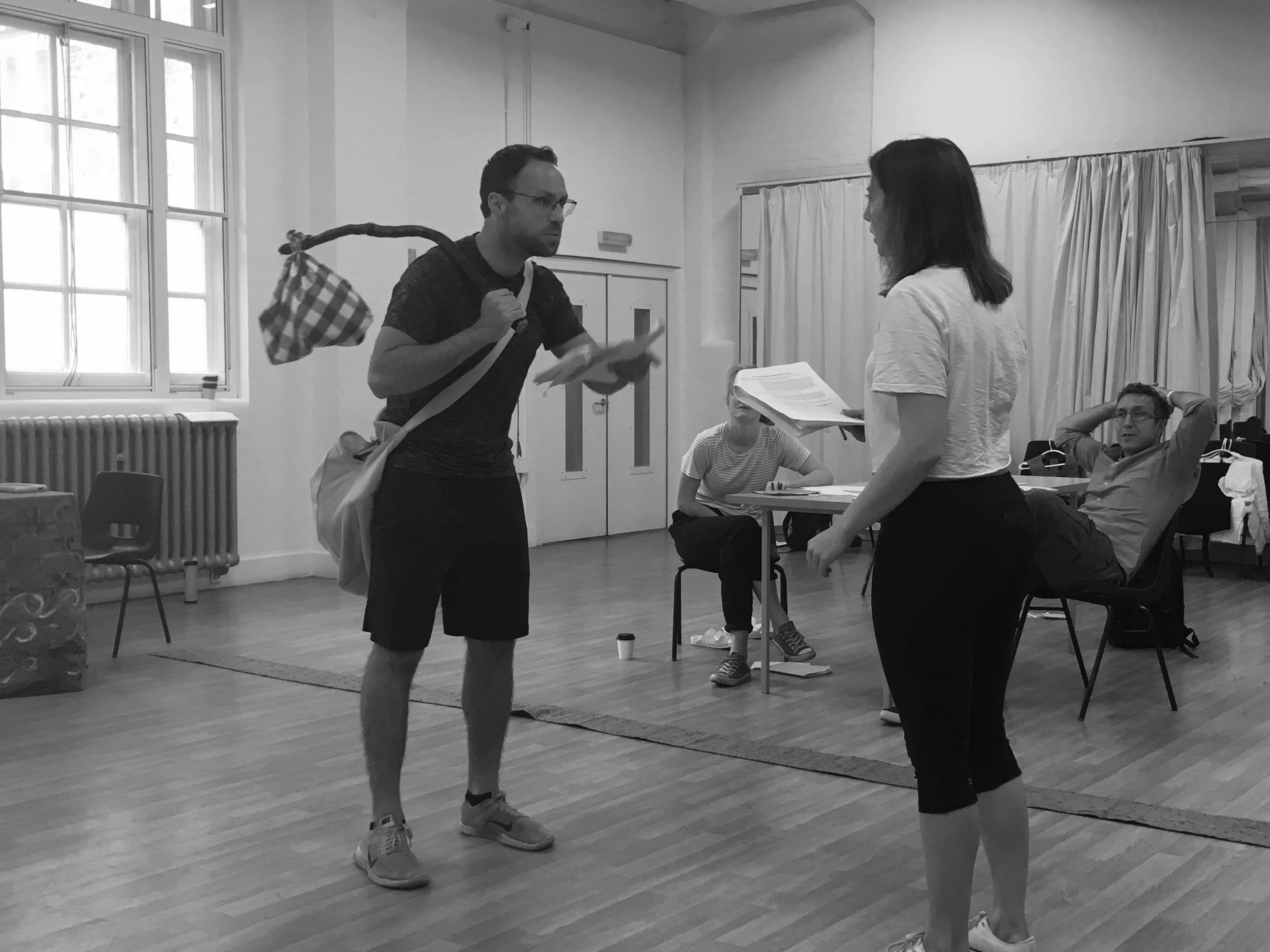 Our Dick Whittington pantomime in rehearsal