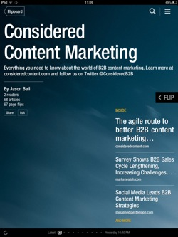 Considered Content Marketing on Flipboard