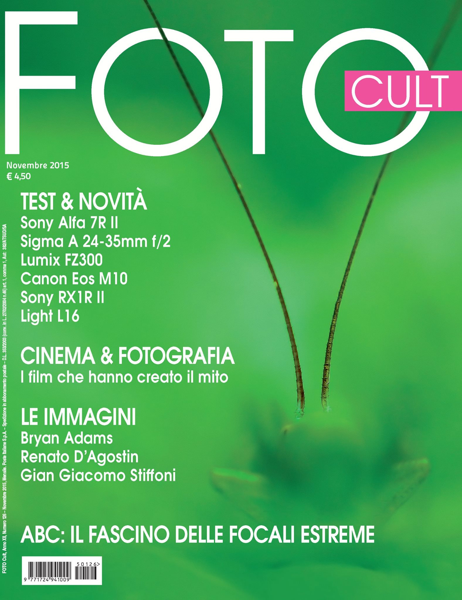 "The from page of the Magazine ""Foto Cult"""
