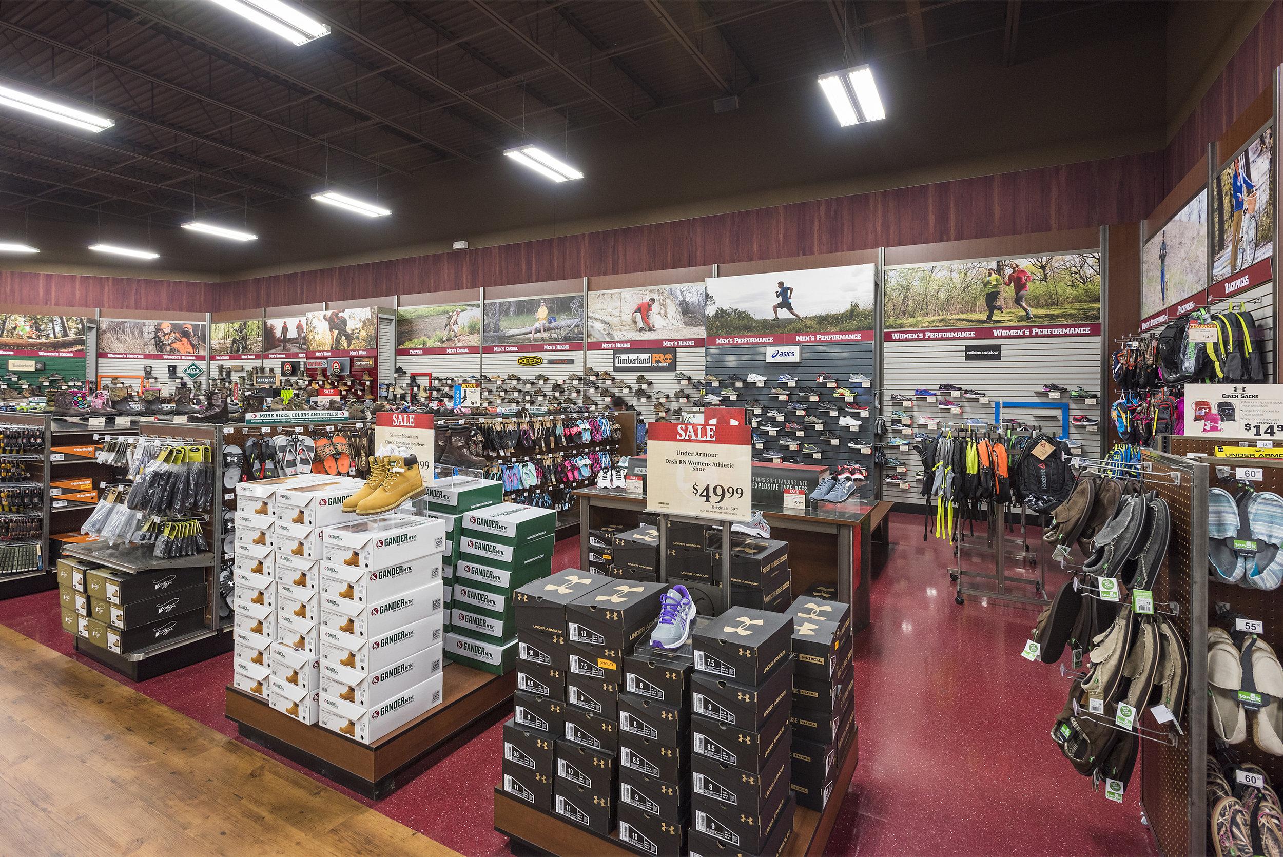 Footwear Department - Fixtures, Footwear Wall