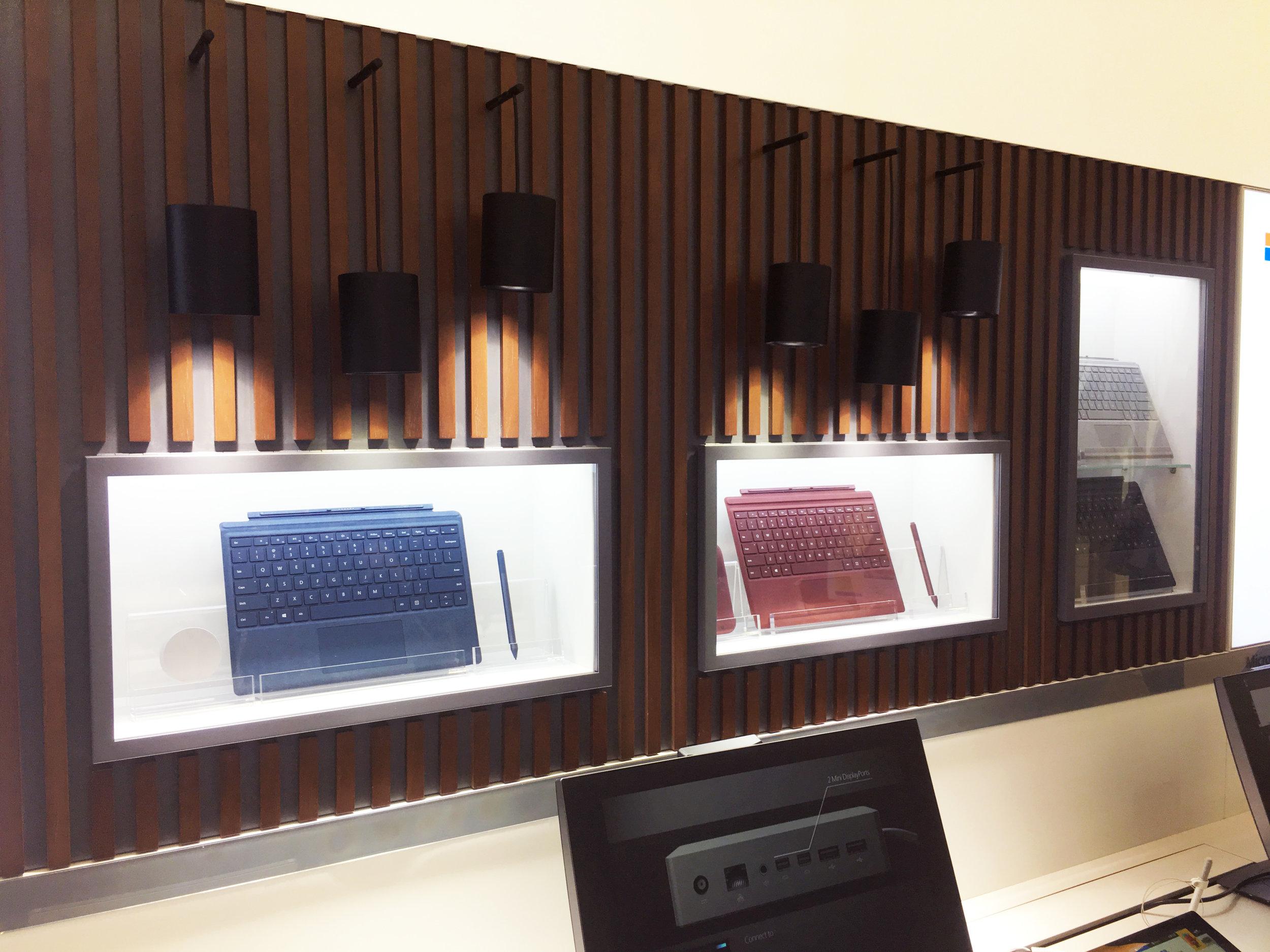 Microsoft AR Store China - Wall Display Detail