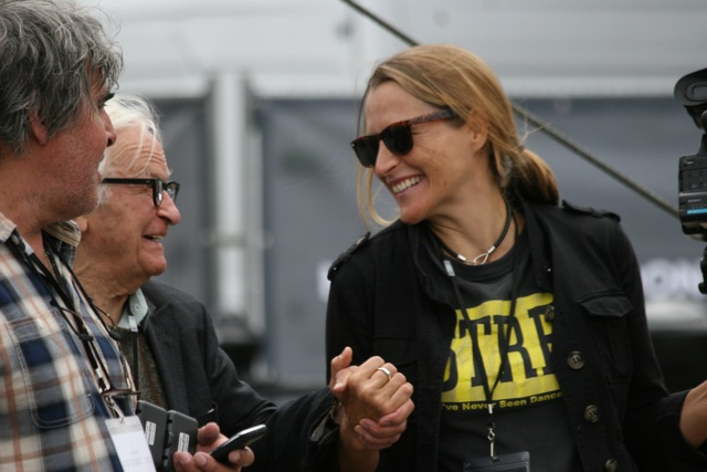 """Catherine and Albert Maysles during the 24-hour shoot of """"One Extraordinary Day"""" in London."""