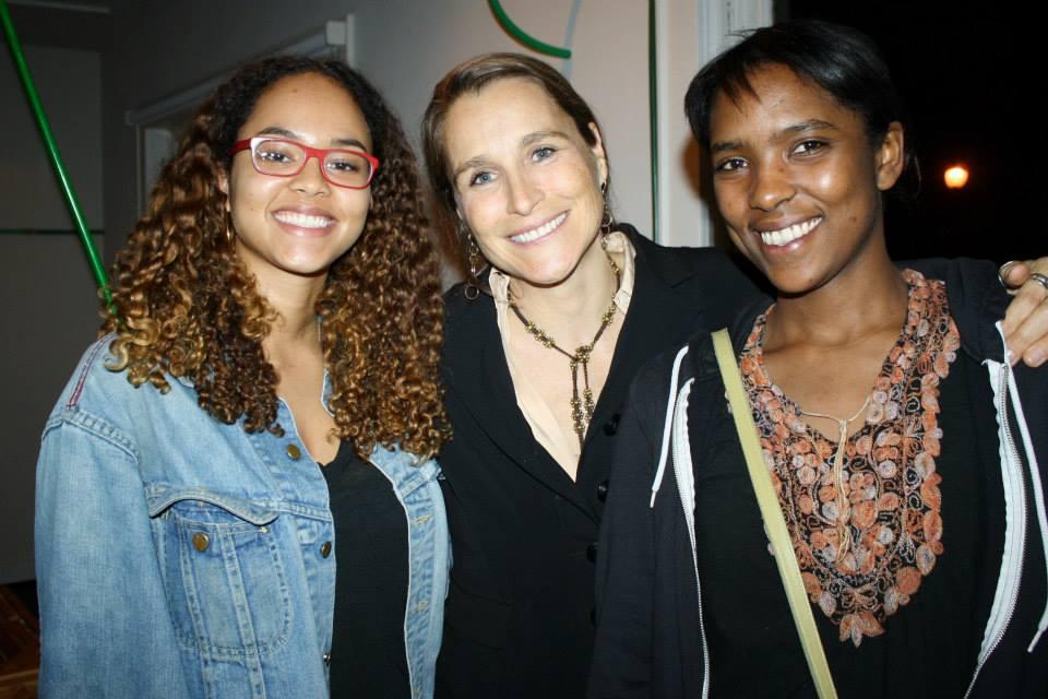 Sadie, Catherine, and Jessica at testsite.