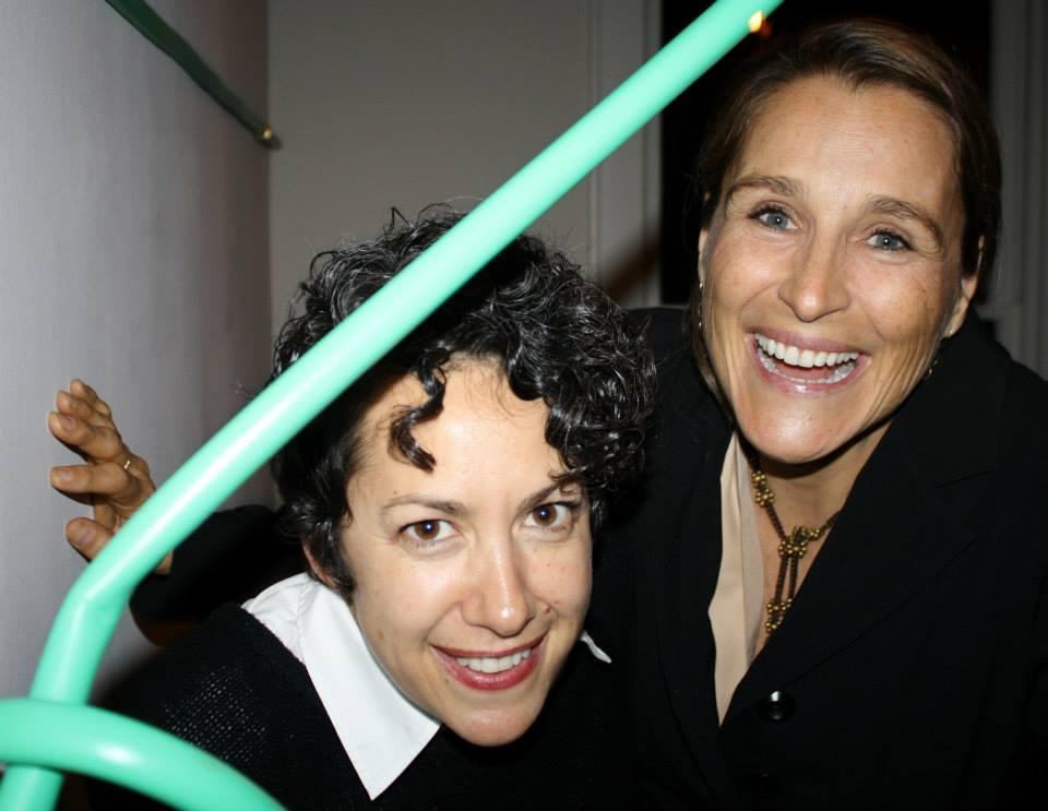 Andrea Mellard (The Contemporary Austin) and Catherine enjoying testsite.
