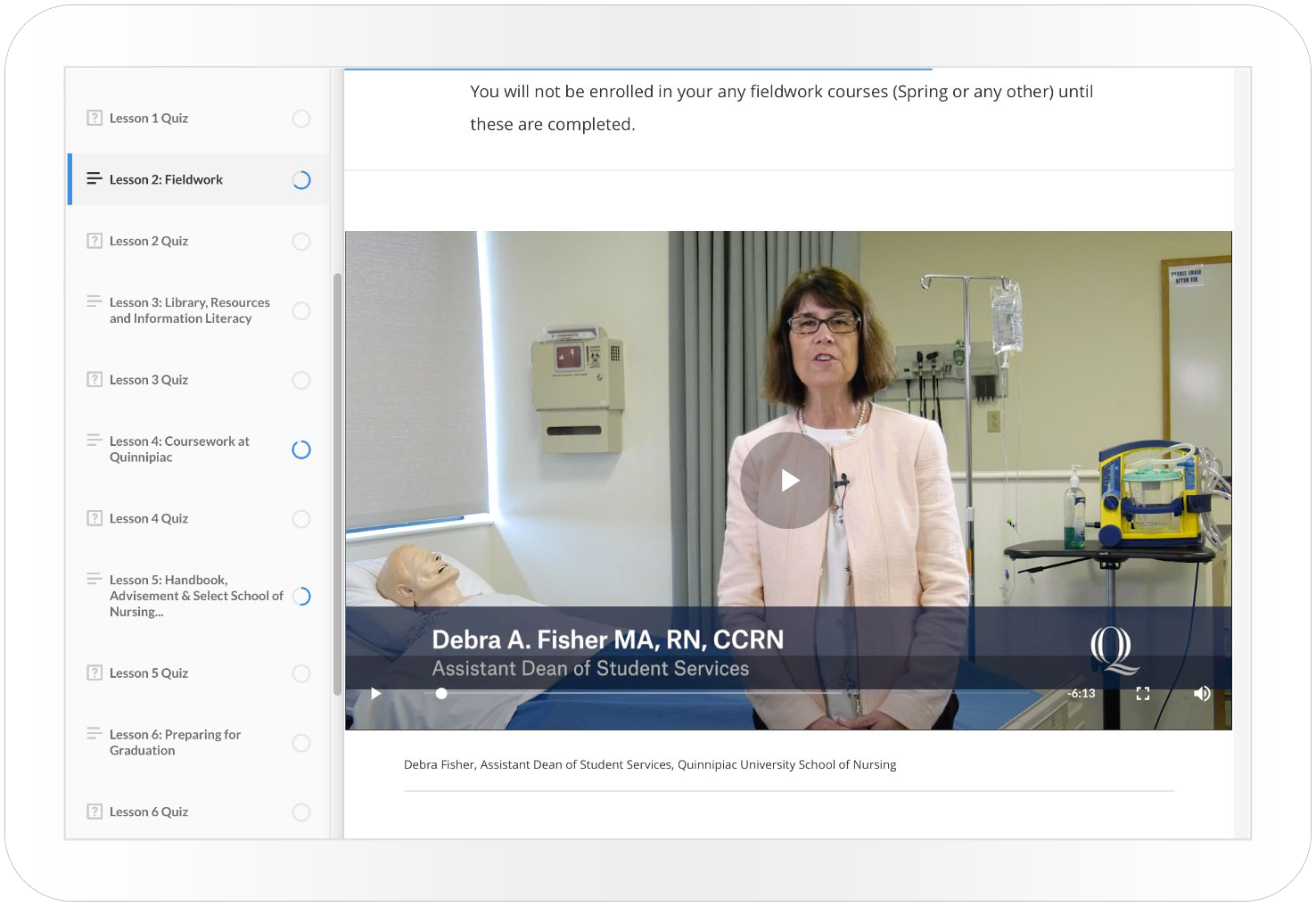 Online Nursing Orientation -