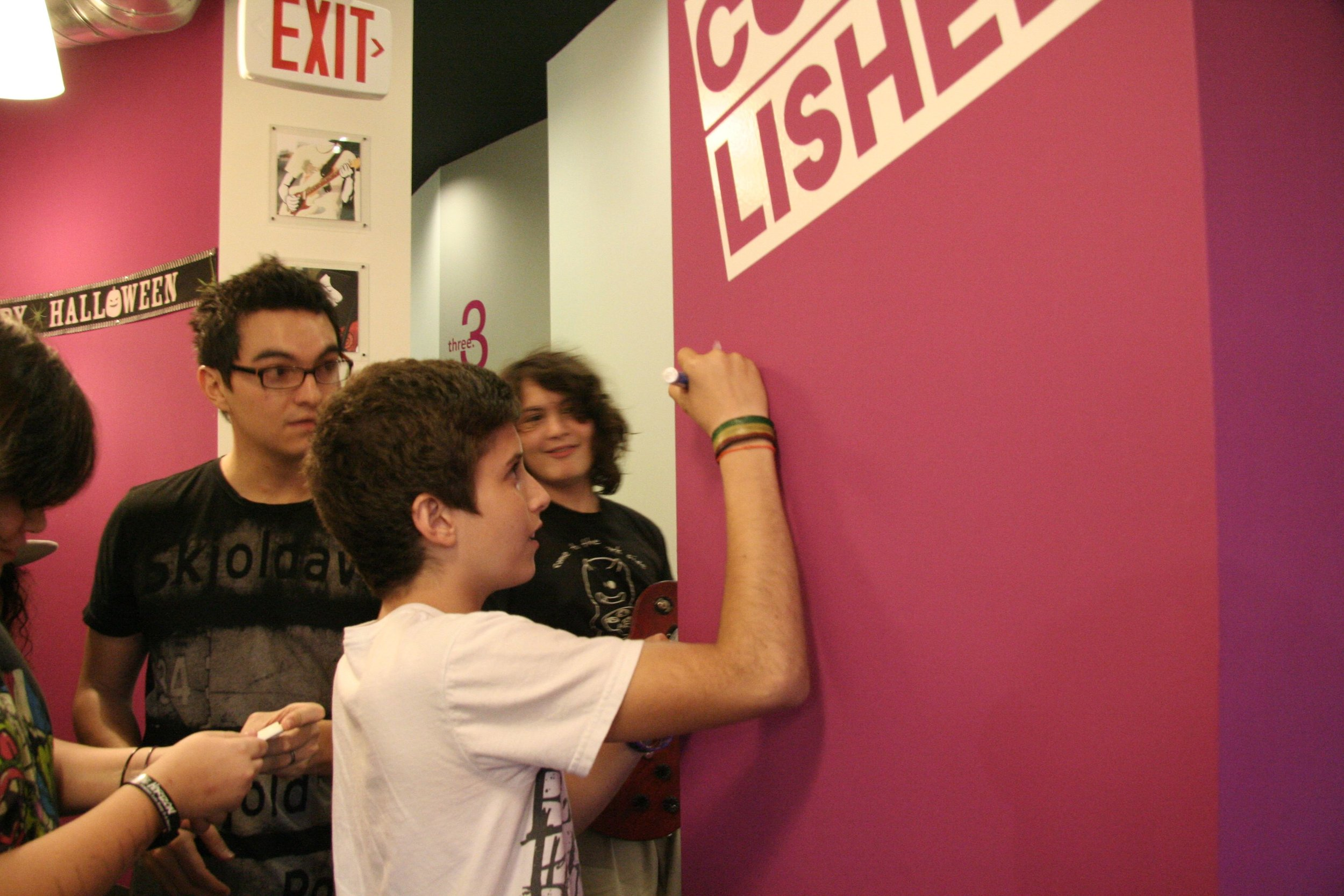 OCTOBER - First Signature on our Wall of Fame