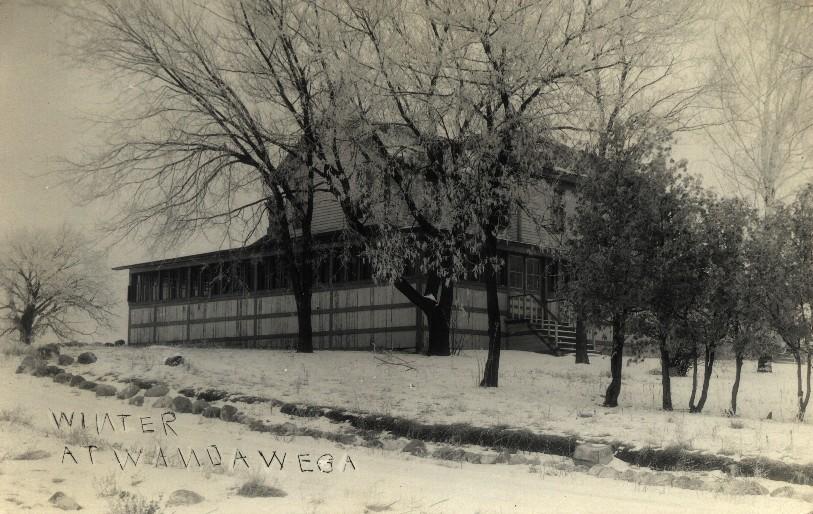 Wandawega Clun House in the winter