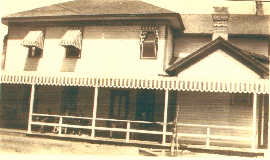 West side of Wandawega Clun House as it appeared in the old days