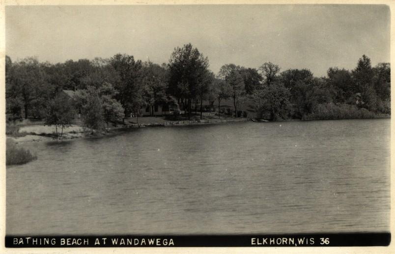 east beach lake wandawega from vintage postcard