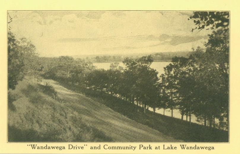 Wandawega drive from vintage postcard