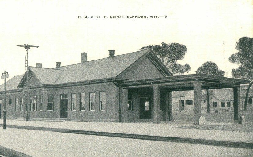 Elkhorn Railroad Station, the first stop for the hundreds of people that visited on the opening day of land sales in the 1920s