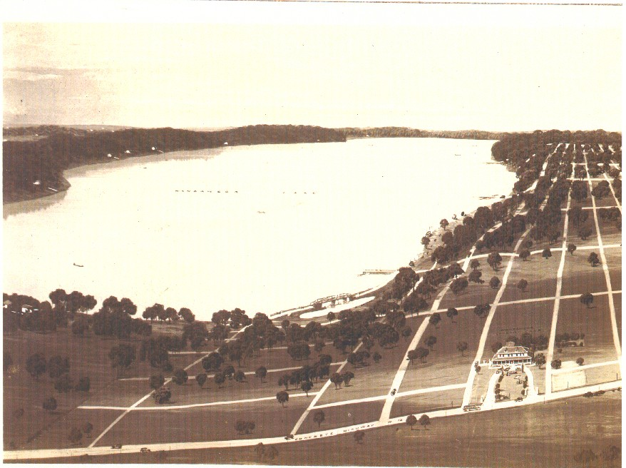 Bird's eye view from the original sales materials.