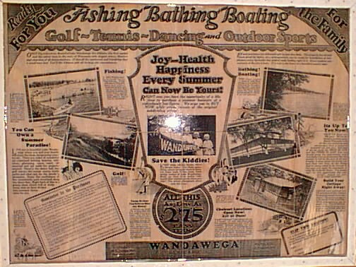 Original sales materials from the 1920s