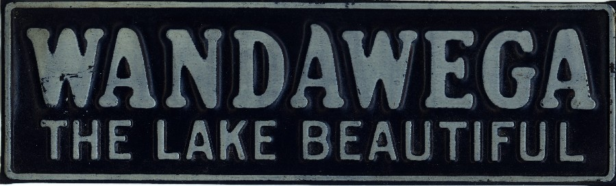A metal sign from the good old days