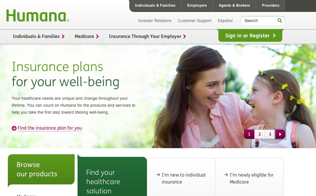 Humana homepage.png