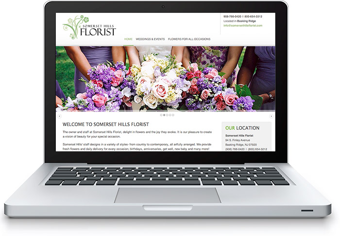 Somerset Hills Florist Website