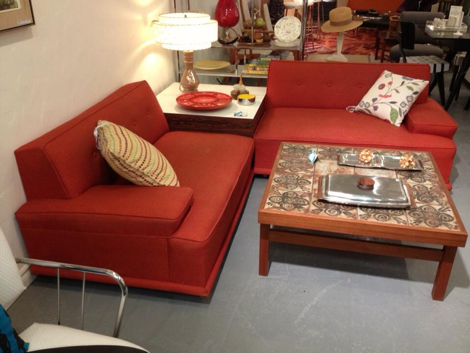Vintage 50's sectional with original upholstery - $795