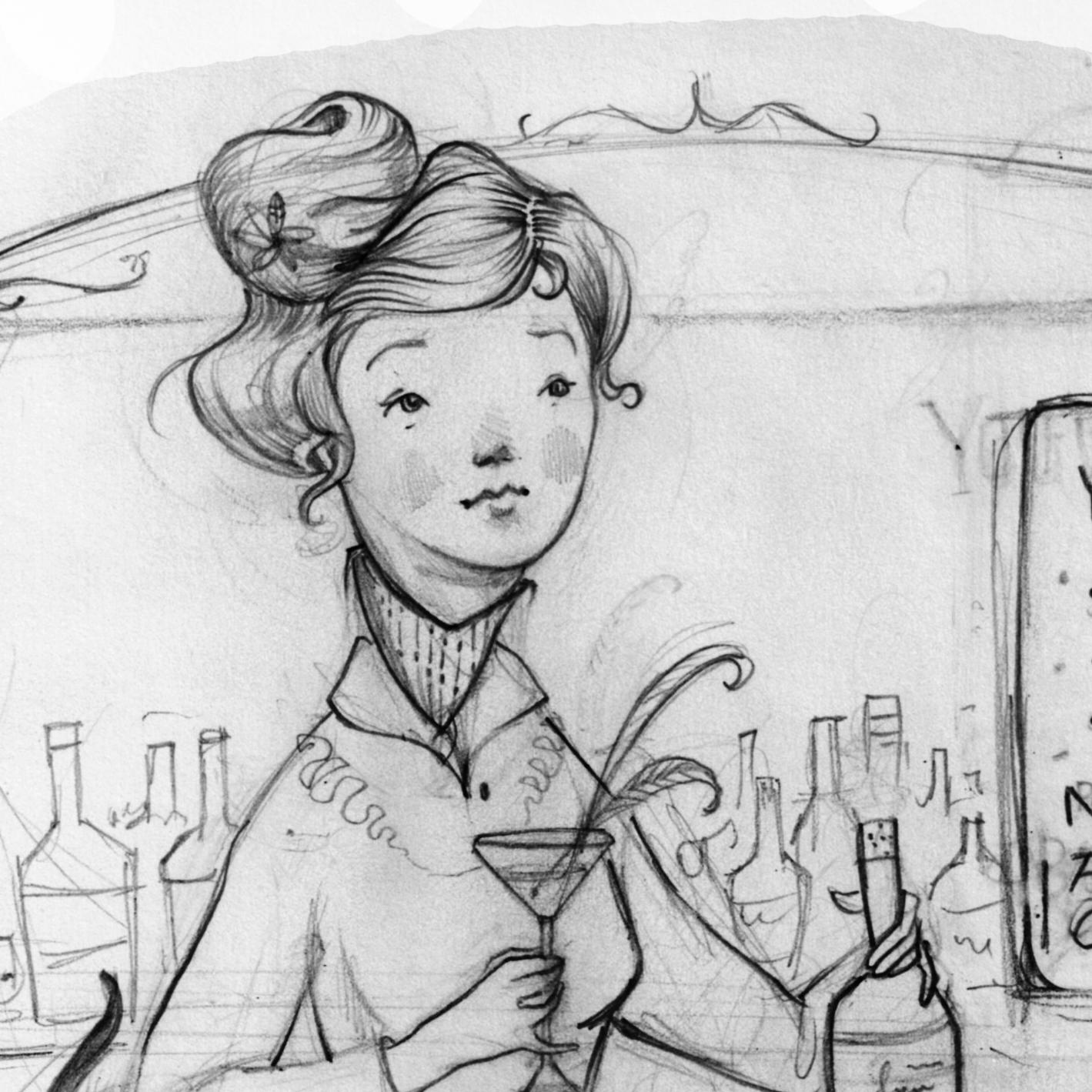 Cocktails Sketch