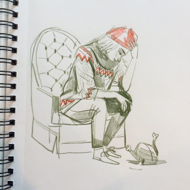 Sad about a turkey.