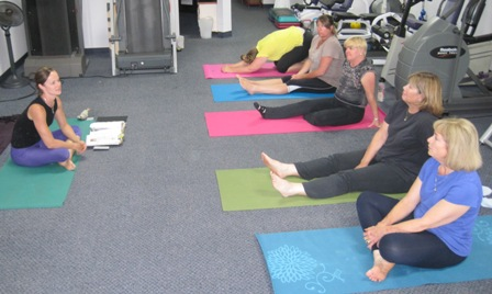 Yoga and meditation is part of the weight loss process at Healthy Inspiration.