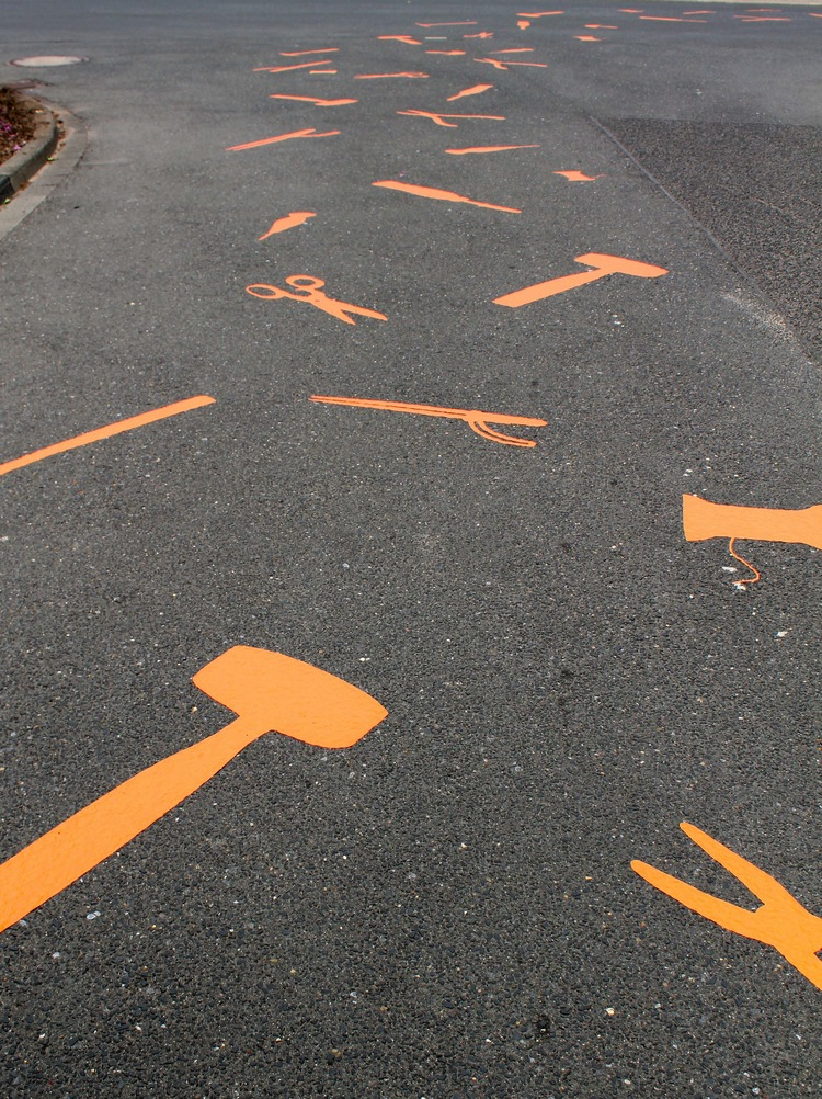 Follow the orange tools!