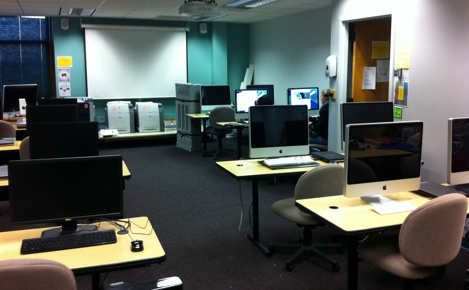 CAD Lab... Not only did I work here in school but also had many classes now I got to teach one!