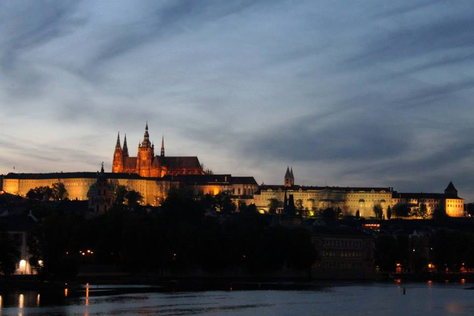 Dusk over Prague