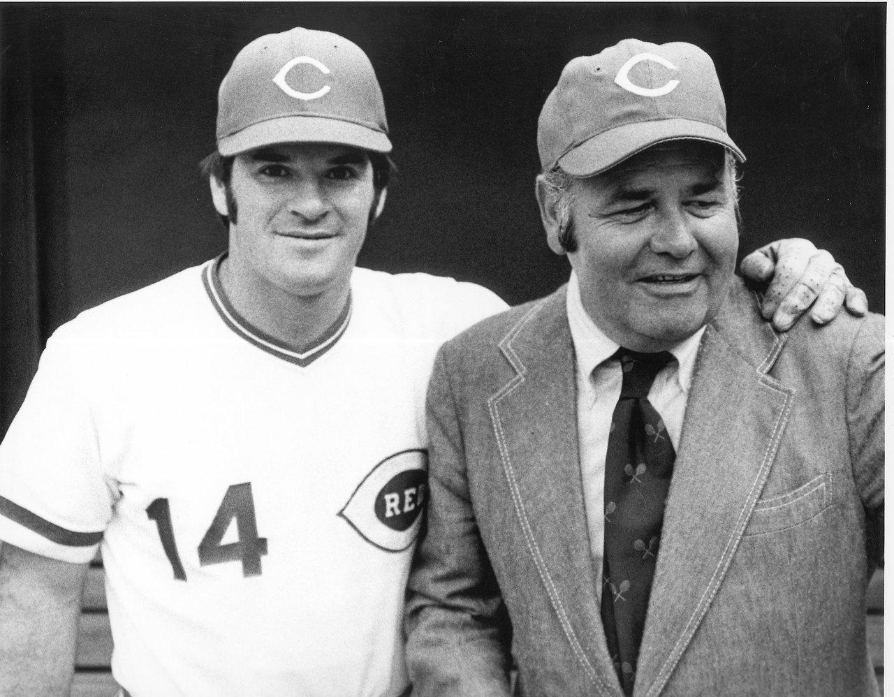 Pete Rose & Jonathan Winters, Baseball & Comedy   Image via   Cincinnati Reds Tumblr