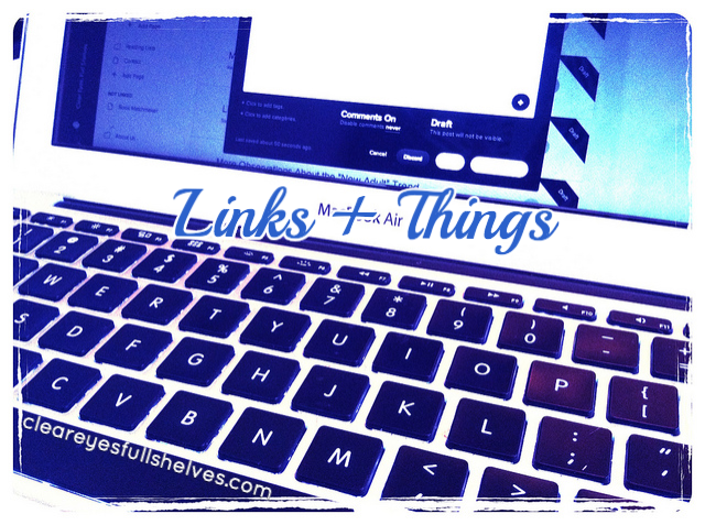 Links + Things: Book News + More from Clear Eyes, Full Shelves