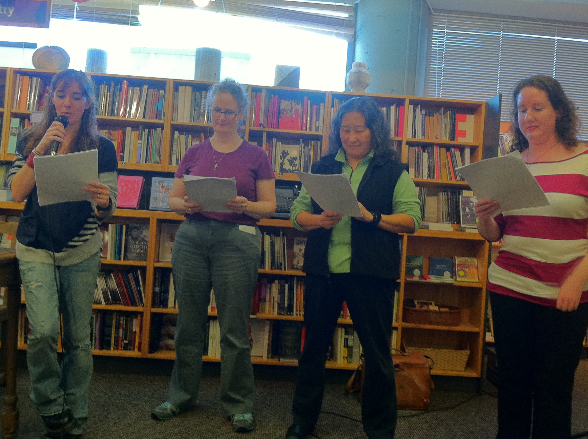 Maggie had readers perform a scene from The Dream Thieves. The volunteers were so good, you'd think they were ringers--they did voices and everything.
