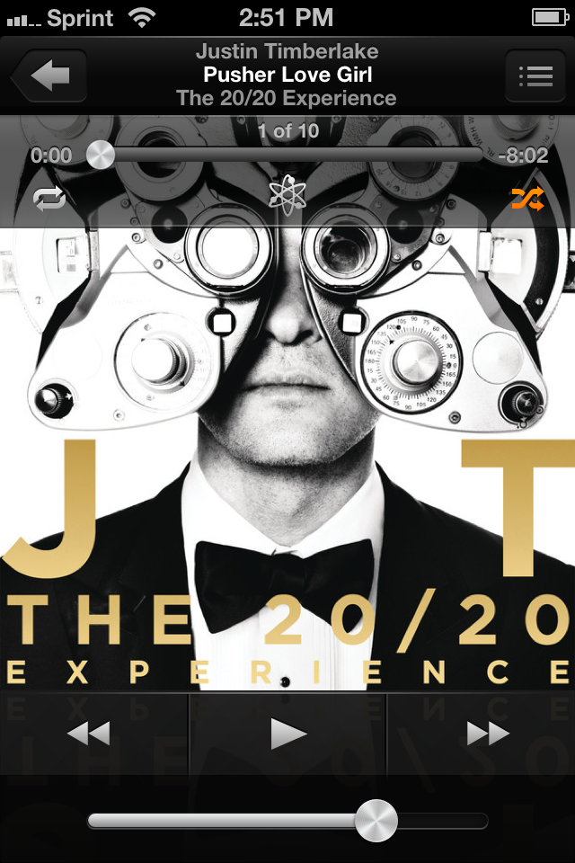 We listened to  Justin Timberlake's 20/20 Experience  as we waved good-bye to Seattle.