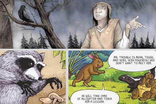 Reflections on Trickster: Native American Tales, A Graphic