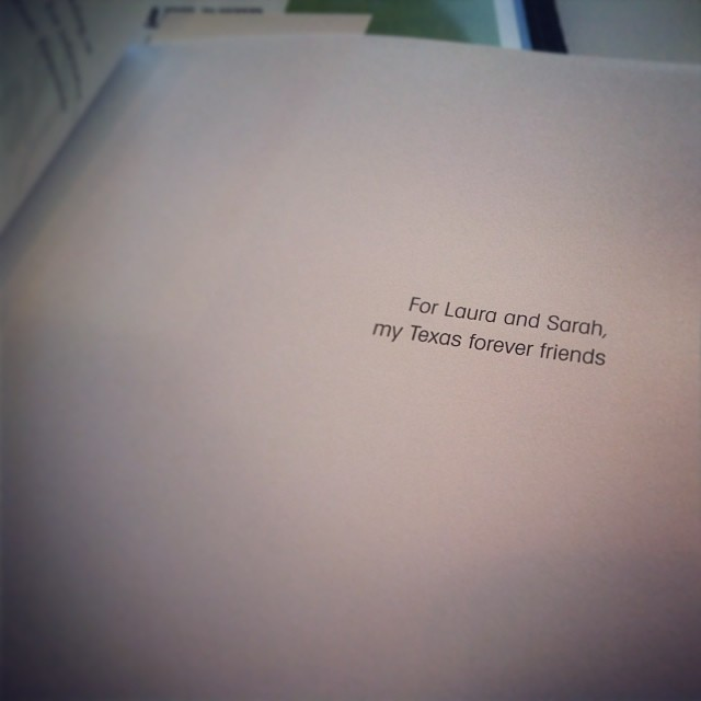 The Bridge from Me to You by Lisa Schroeder - Dedication