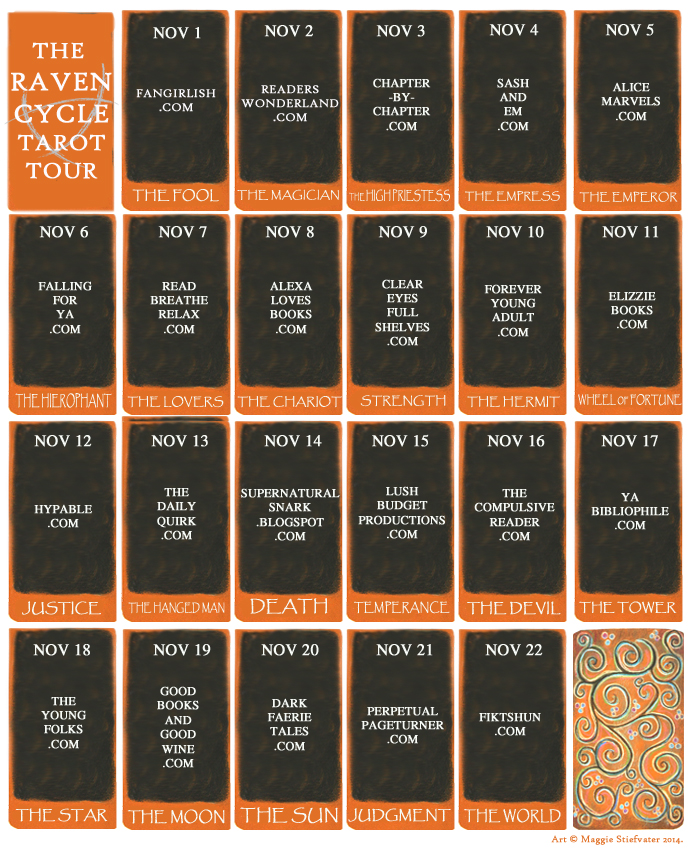 The Raven Cycle Tarot Tour on Clear Eyes, Full Shelves