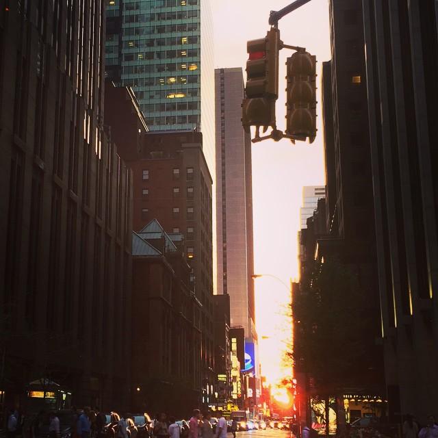 Almost Manhattanhenge