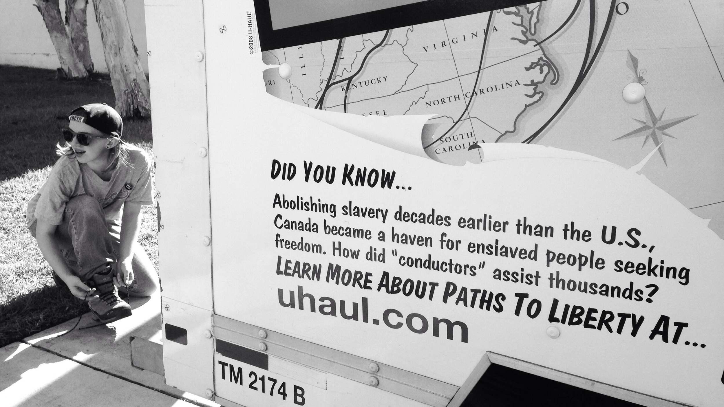 Randomly selected Uhaul truck orCanadian propaganda, eh?